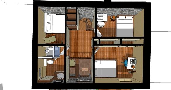 bureau chambre adulte plans du projet la cabane - Bureau Chambre Adulte